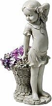 Design Toscano Frances, das Blumenmädchen, Figur