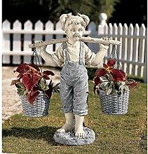Design Toscano Gartenfigur Blumen für Felicity,