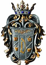 Design Toscano Graf Drakulas Wappen, Wandschild