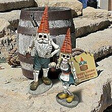 Design Toscano Halloween Bayerische Oktoberfest Skelett Hans gnome