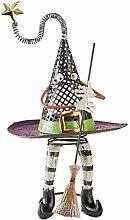 Design Toscano Halloween Spellbound Witch 's Hat Halloween Statue, Metallelemente, mehrfarbige,