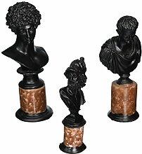 Design Toscano Helden der Antike, skulpturale Büsten: Ajax, Cäsar und Adonis