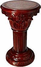 Design Toscano Imperia, Säule mit Marmor-Einlegearbeiten: Mittelgroß