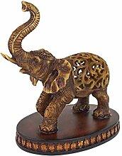 Design Toscano Jali-Elefant Skulptur, Polyresin,
