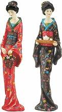 Design Toscano Japanische Geisha-Figuren: