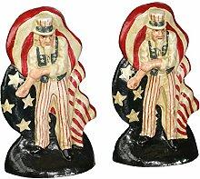 Design Toscano Kämpfender Uncle Sam, Buchstütze