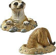 Design Toscano Kalahari-Erdmännchen-Figuren,
