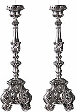 Design Toscano Kerzenständer mit Verschnörkelungen, Europäischer Stil: Groß, 2er-Se