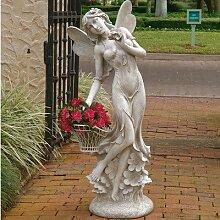 Design Toscano Lillian Die Blumenfee, Übergroße Gartenskulptur