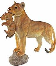 Design Toscano Löwin mit Jungem, Statue