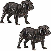 Design Toscano Lord Byrons Bulldogge Skulptur,