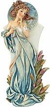 Design Toscano Mädchenfigur Jugendstil Frühling, mehrfarbig, 9 x 12,5 x 28 cm, SH89121
