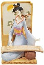 Design Toscano QS324601 Japanische Musikalische Geisha mit Koto Skulptur