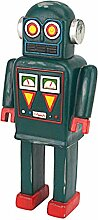 Design Toscano Retro-Roboter Messgerät-Junge