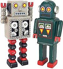 Design Toscano Retro-Roboter Sammlung Statue,