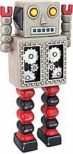 Design Toscano Retro-Roboter Zahnrad-Mann Statue,