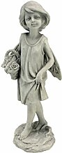 Design Toscano Rosengartenfee mit Korb, Figur