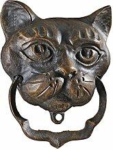 Design Toscano Schwarze Katze, Türklopfer aus Eisen