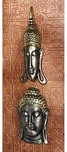 Design Toscano Sukhothai und Bodh Gaya Buddhas, Asiatische Wandskulpturen: 2er-Se