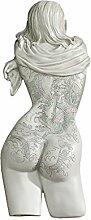 Design Toscano Tattoo Temptation, Wandfigur-Kollektion: Asiatische Schönhei