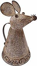 Design Toscano Tierwasserbehälter Metall Maus Gießkanne, bronze, 23 x 19 x 32 cm, FU66889
