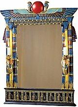 Design Toscano Wadjet, Ägyptischer Wandspiegel mit Kobraleuchten