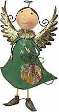 Design Toscano Weihnachts-Helfer, Engel-Kollektion aus Metall: Blanche, Mehrfarbig, 11.5 x 28 x 47 cm
