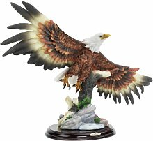Design Toscano Weißkopfadler mit ausgebreiteten Flügeln