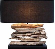 Design Treibholz Lampe RIVERINE Tischleuchte mit