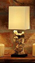 Design Treibholz Lampe Tischlampe Nachttischlampe