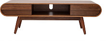 Design-TV-Möbel 2 Schubladen Nussbaum - BALTIK