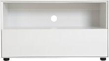 Design-TV-Möbel 90 cm Weiß matt 1 Schublade MARK