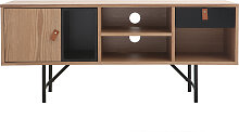 Design-TV-Möbel Eichholz und schwarz OFICI