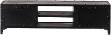 Design-TV-Möbel Metall Schwarz 150 cm FACTORY