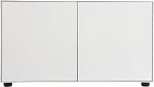 Design-TV-Möbel Weiß matt 90 x 40 cm 2 Türen