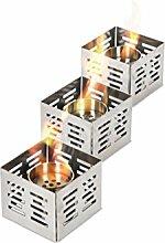 Design Twist Set, 3-teilig Tischkamin 0.15 L Silber