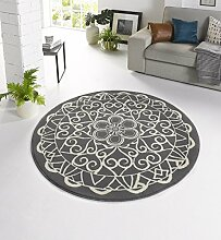 Design Velours Teppich orientalisch CM-12 Grau