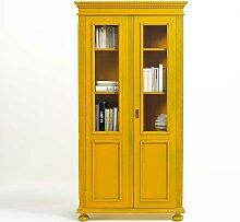 Design Vitrine  in Gelb Fichte Massivholz