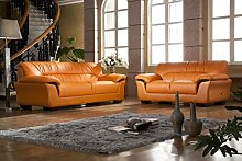 Design Voll-Leder Sofa Couch Garnitur