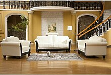Design Voll-Leder-Sofa-Garnitur-Polstermöbel-Sessel 278-3+2+1-W