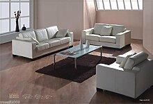 Design Voll-Leder-Sofa-Garnitur-Polstermöbel-Sessel 368-3+2+1-W