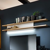 Design Wandboard in Weiß Eiche furniert LED
