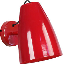 Design-Wandleuchte Metall Rot FRIDAY