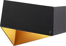 Design Wandleuchte schwarz mit Gold - Fold