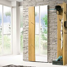Design Wandspiegel mit Haken und Baumkante 70 cm