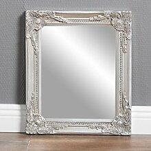 Design Wandspiegel Silber BAROCK 32 x 27 cm Badspiegel