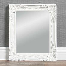 Design Wandspiegel weiß BAROCK 27x32cm