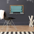 Design Wandtisch in hell Grau und Türkis klappbar