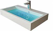 Design Waschbecken aus Gussmarmor -