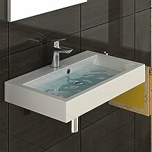 Design Waschbecken aus Gussmarmor - Handwaschbecken - Waschtisch - Waschplatz Eckig Waschtisch